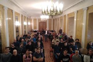 Виталий Брагилевский и слушатели